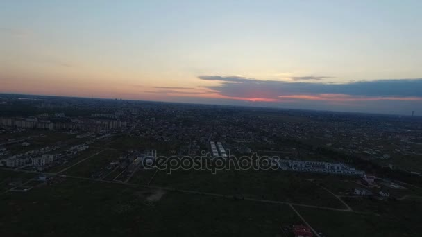 Aerial footage, Morning city, Bucharest, Romania