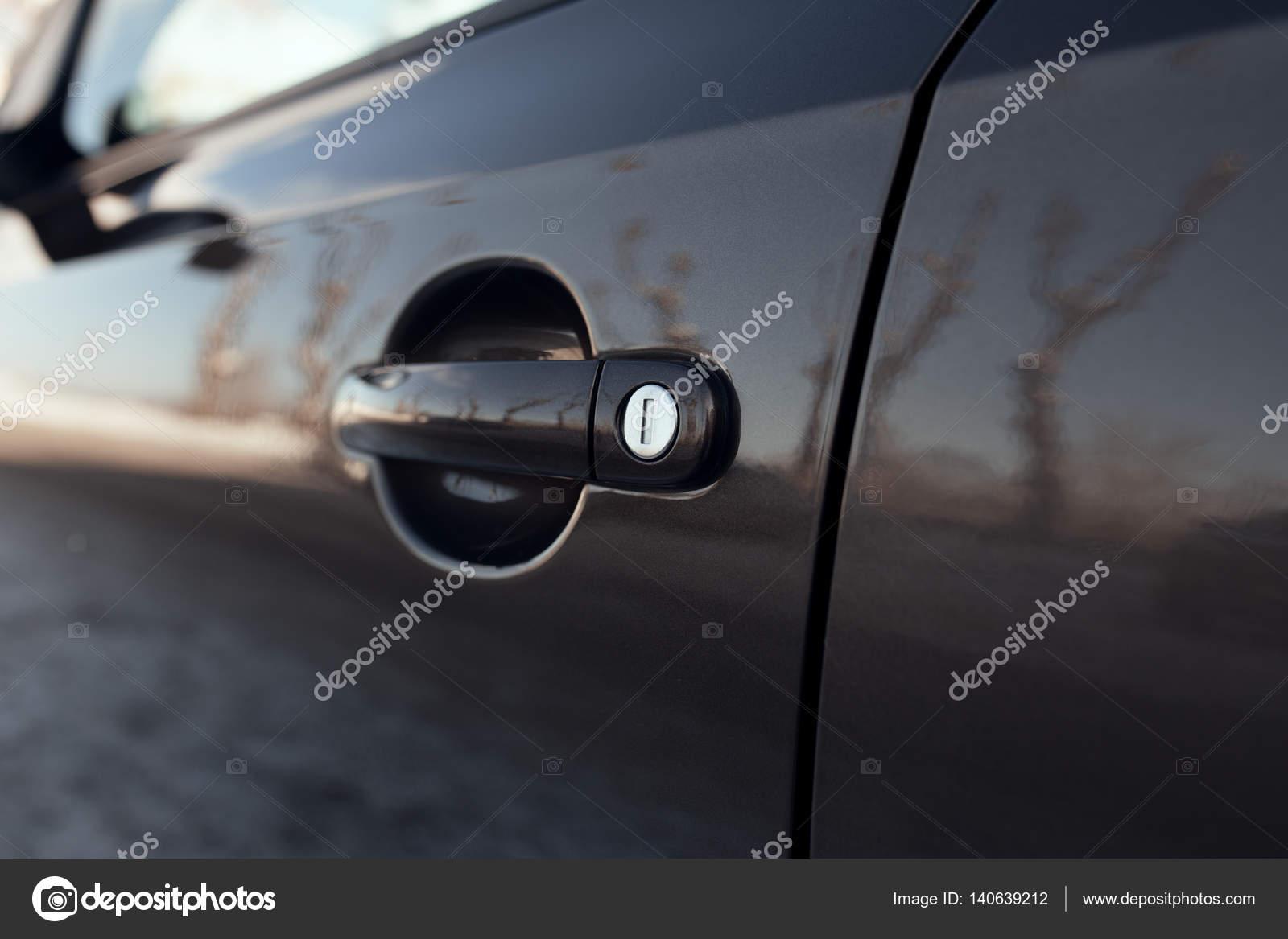 Maniglia Esterna Porta Auto Di Apertura Con Serratura Foto Stock