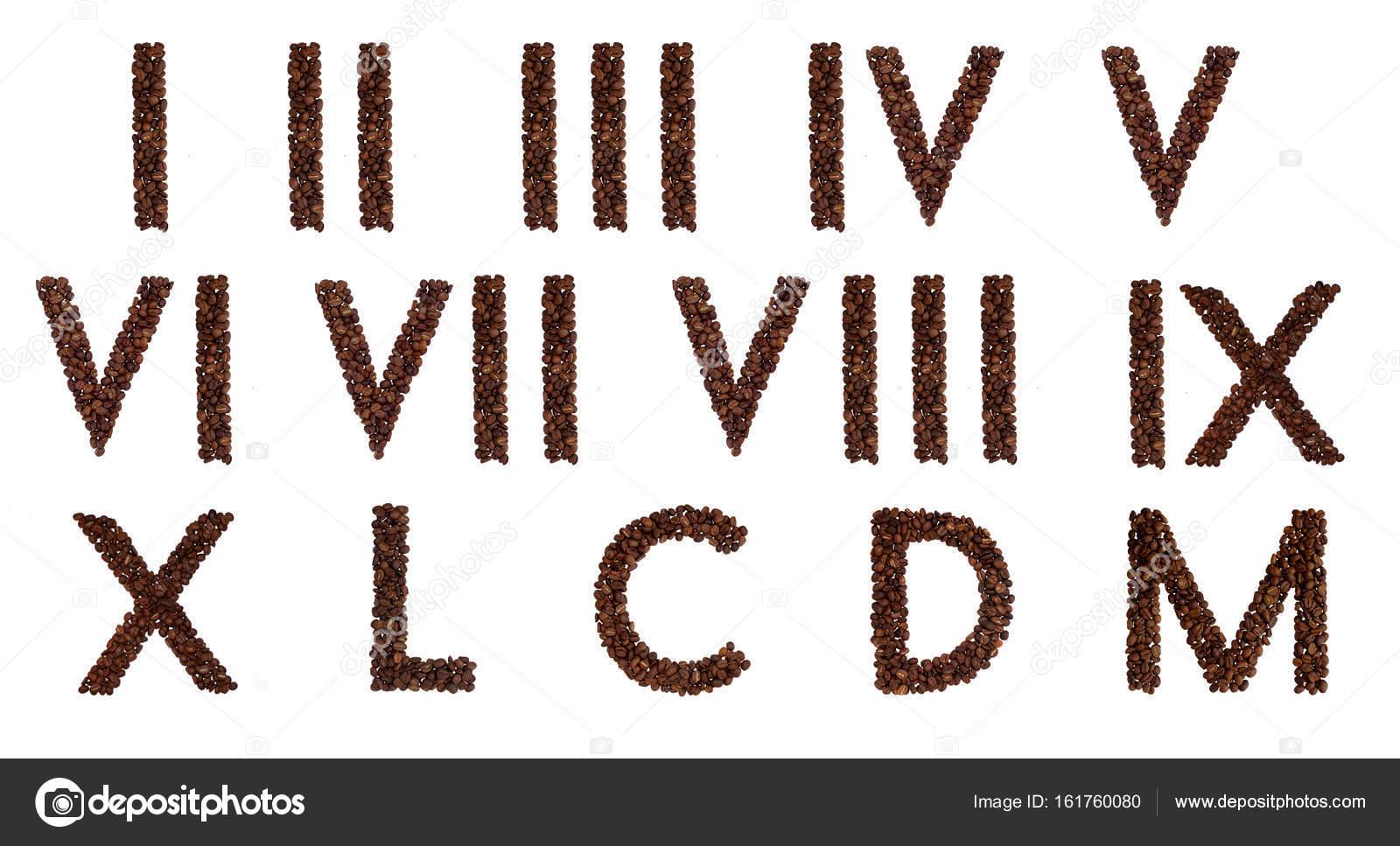 Imágenes Laminas De Numeros Romanos Números Romanos De Granos De