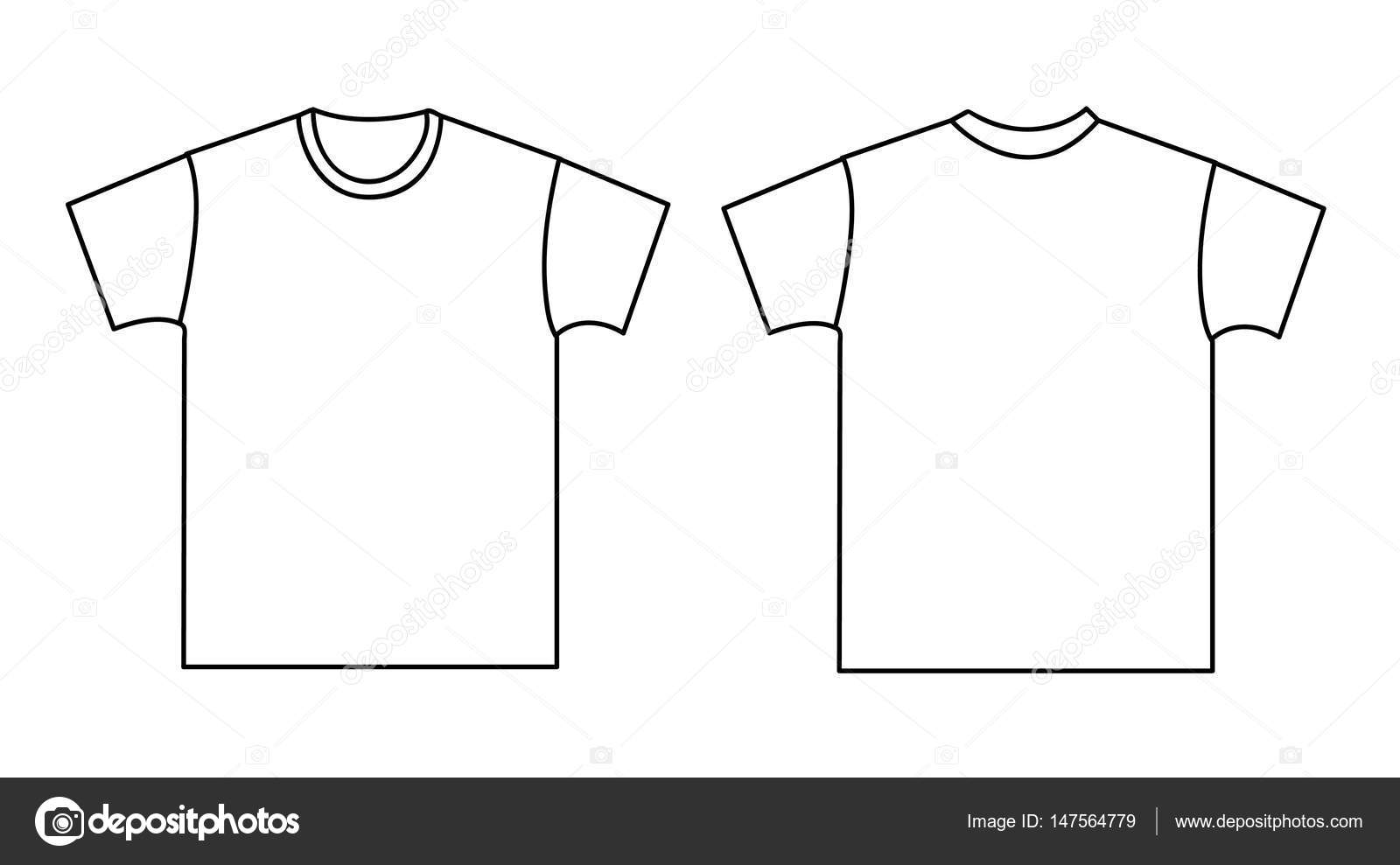 Blank t-shirt template. Front and back — Stock Vector © nezezon ...