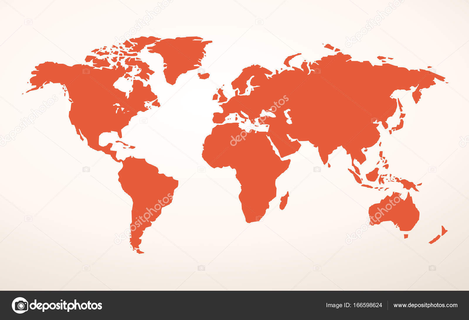 World map vector — Stock Vector © nezezon #166598624 on