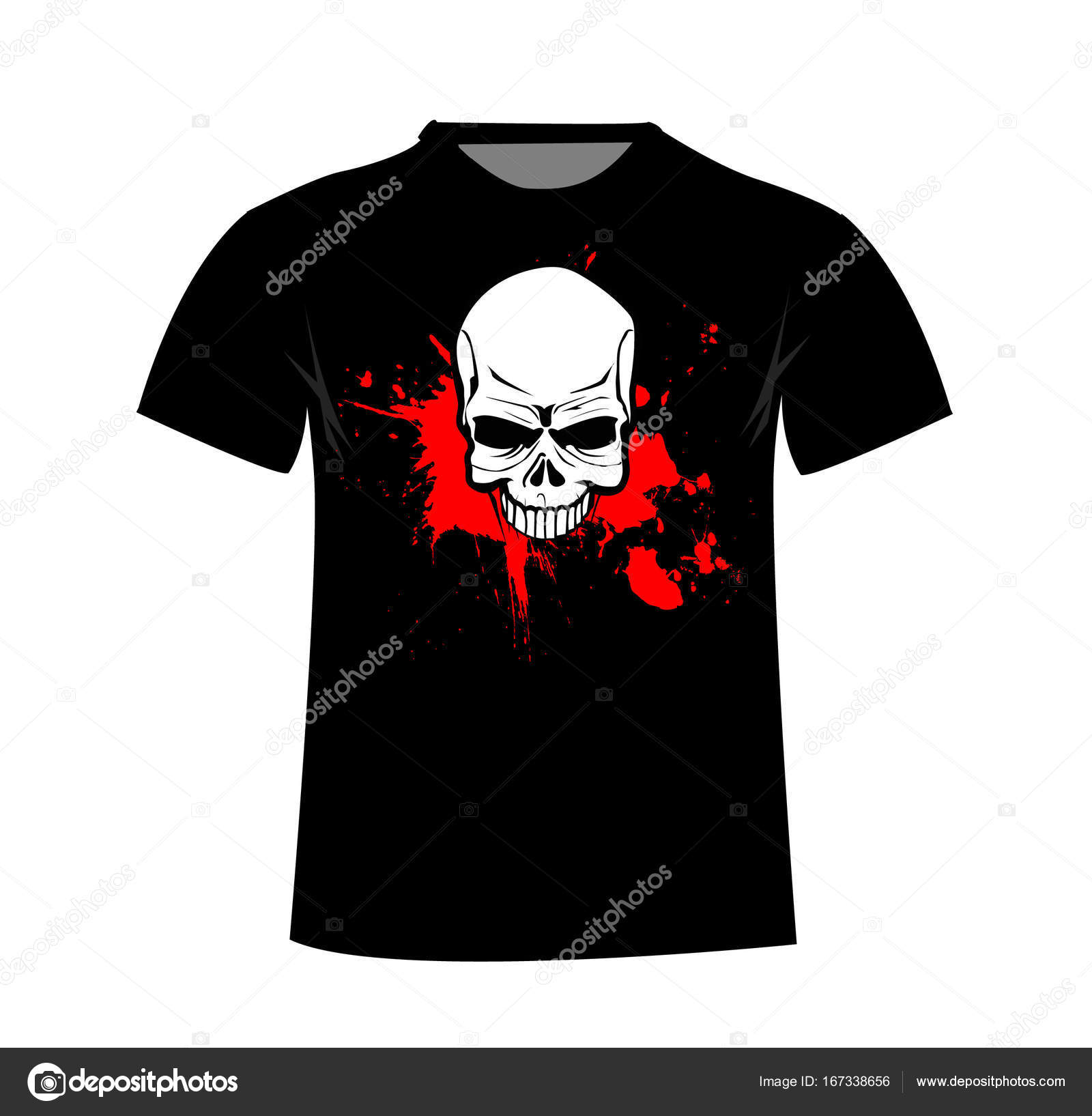 T-Shirt Vorlage. Vordere Vektor-illustration — Stockvektor © nezezon ...