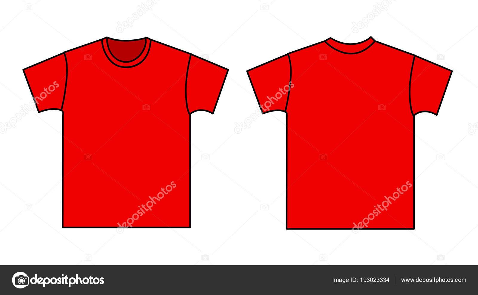 leere T-shirt-Vorlage. Vorder- und Rückseite — Stockvektor © nezezon ...