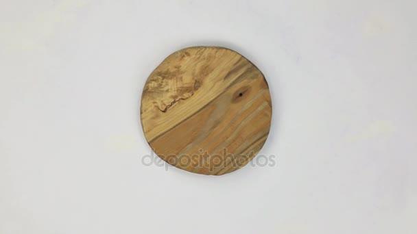 Rotace Kulatý rám z borovice.