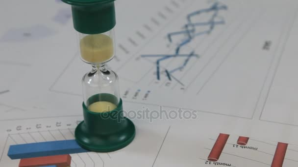 Rotation of hourglasses standing on the diagrams.
