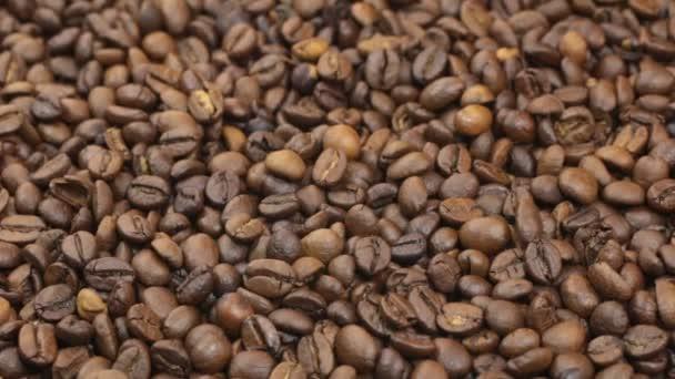 Drehung, Hintergrund, gemacht aus einem Haufen von Kaffeebohnen