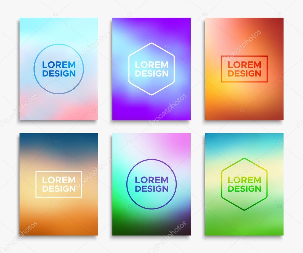 brochure flyer layouts in a4 size vector banners stock vector
