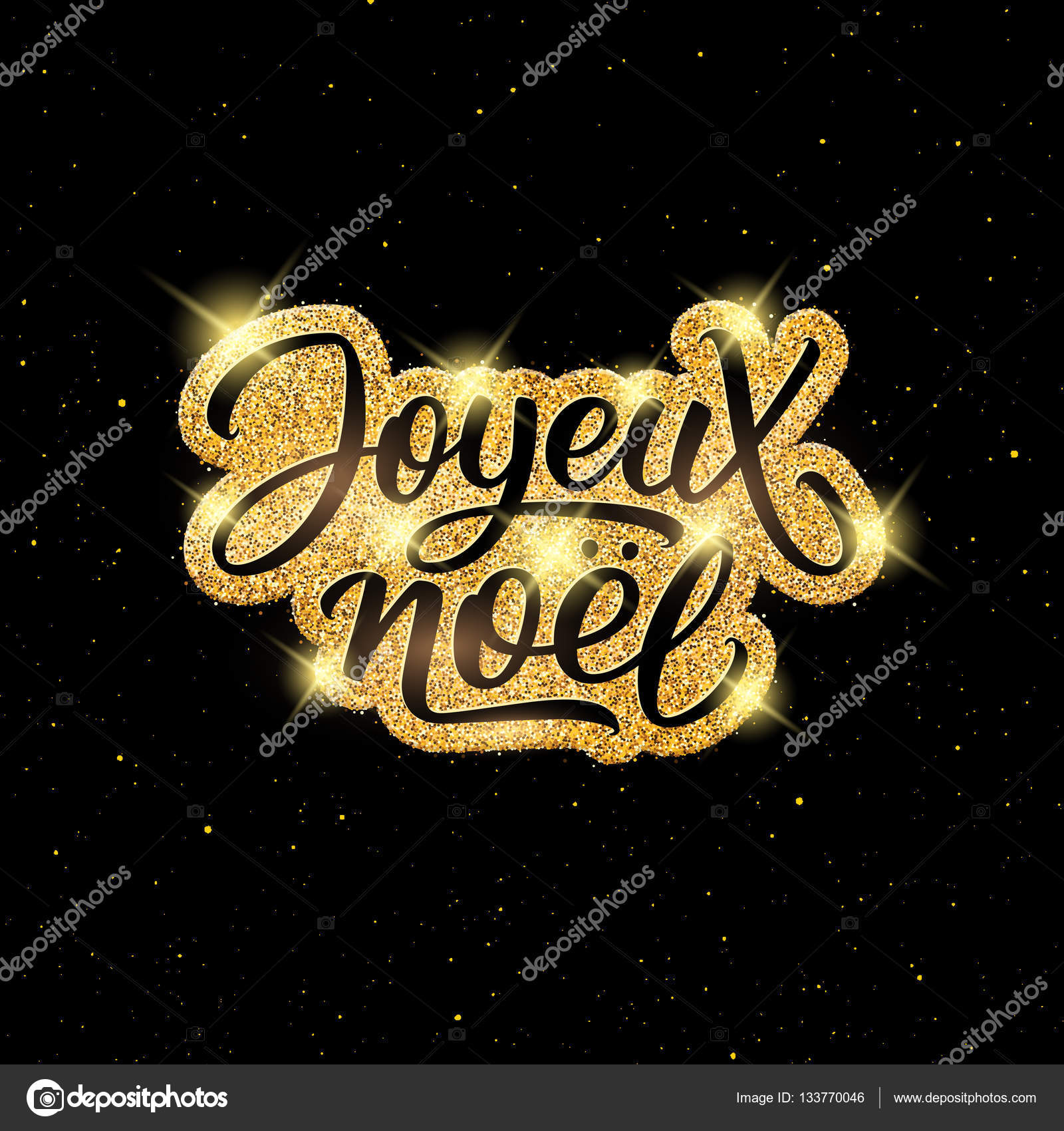 merry christmas on french stock vector - Merry Christmas French