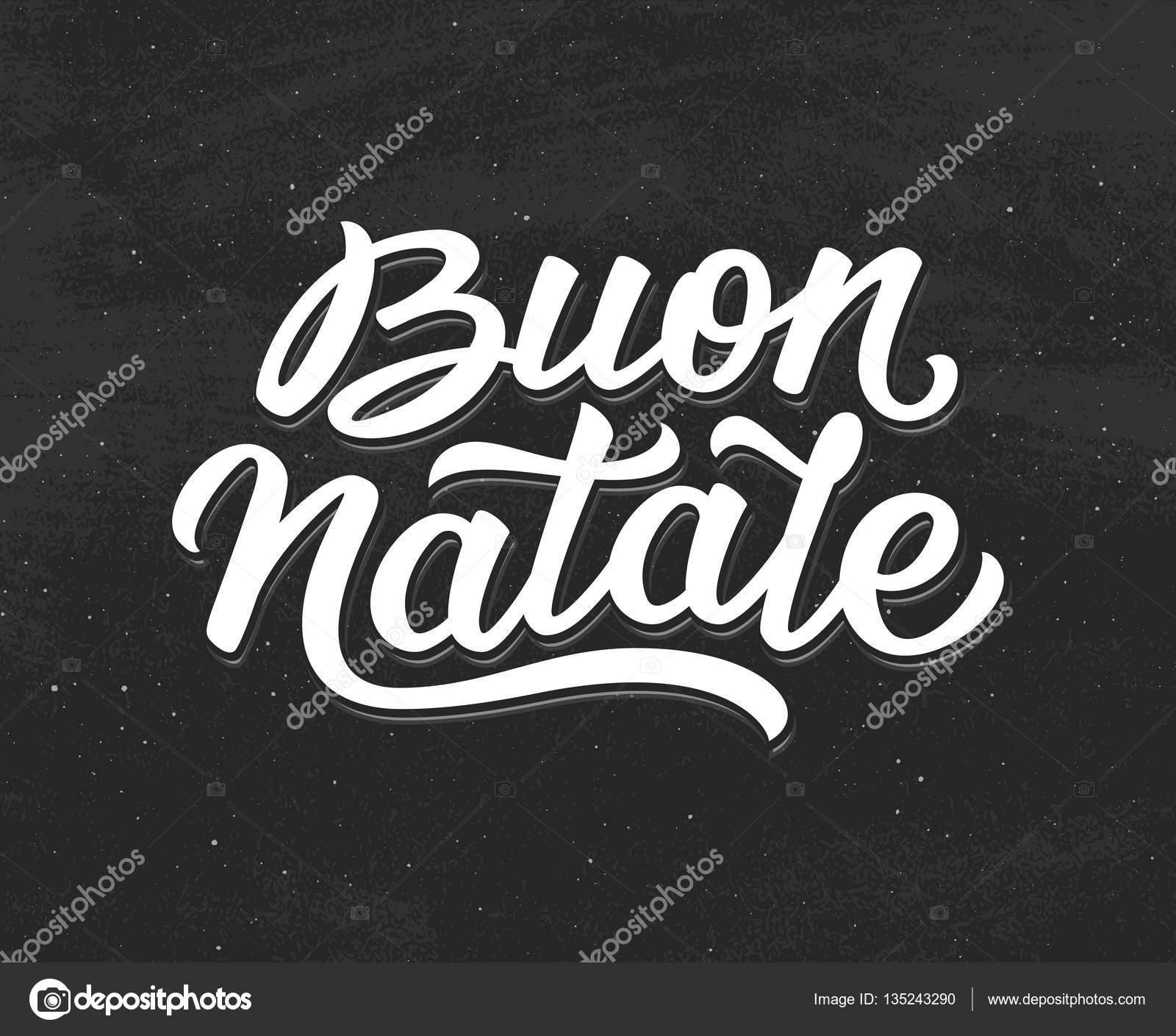 Buon Natale Belettering Vrolijk Kerstfeest In Het Italiaans