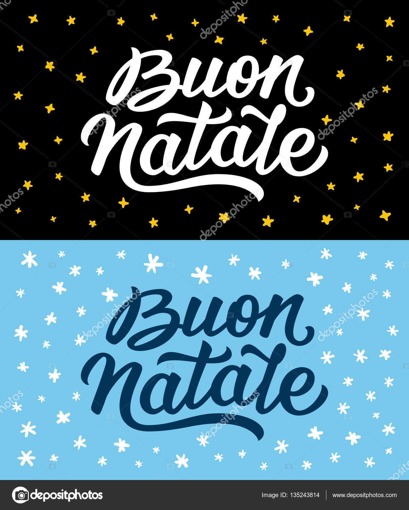 Merry christmas retro flat style greeting cards stock vector merry christmas vintage flat greeting cards or flyers set with hand lettering xmas greetings text on italian language vector by astartu m4hsunfo