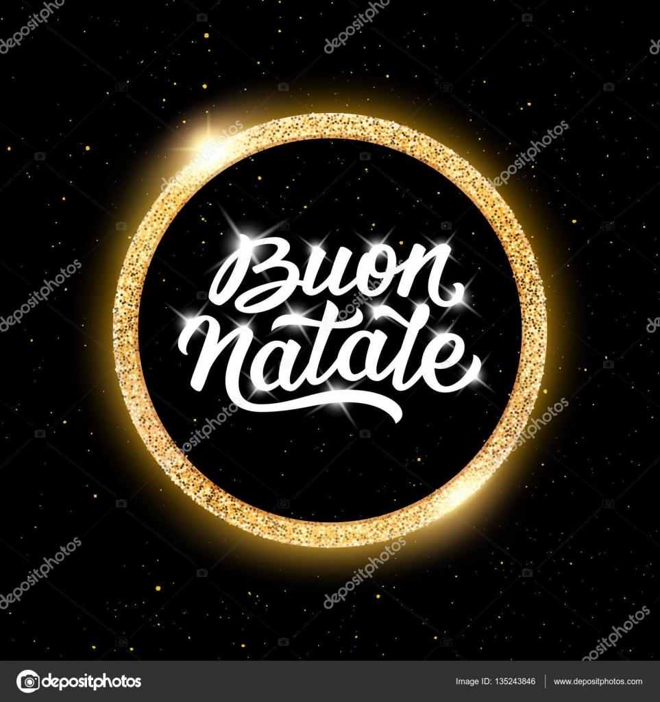 buon natale schriftzug frohe weihnachten auf italienisch stockvektor astartu 135243846