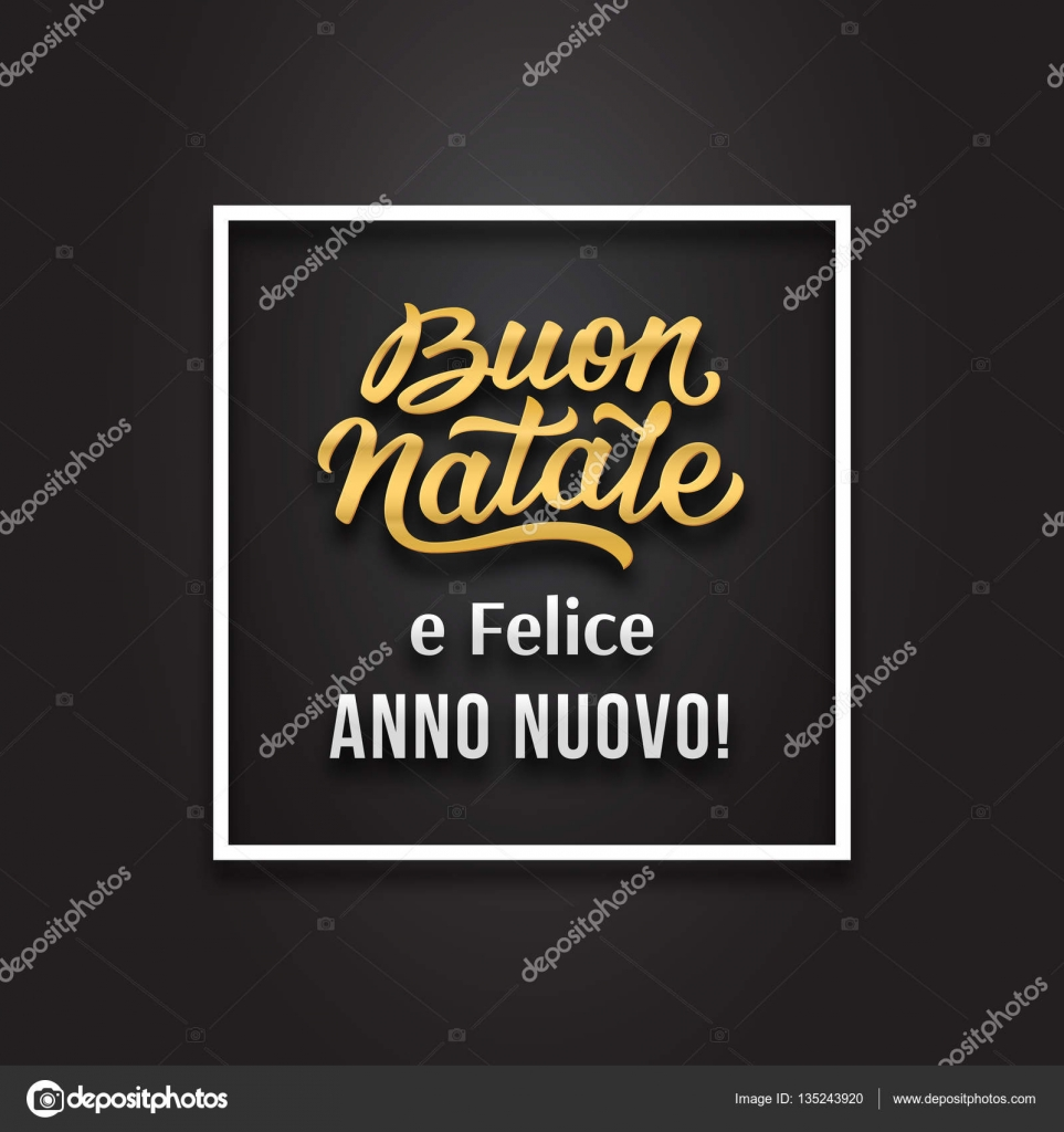 Merry christmas and happy new year in italian stock vector merry christmas and happy new year greetings text in italian language on black background premium vector illustration with typography for xmas card design m4hsunfo