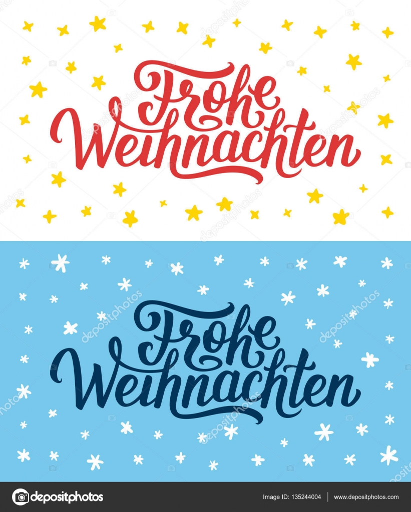Merry christmas retro flat style greeting cards stock vector merry christmas retro flat greeting cards or flyers set with hand lettering xmas greetings text on german language vector by astartu m4hsunfo