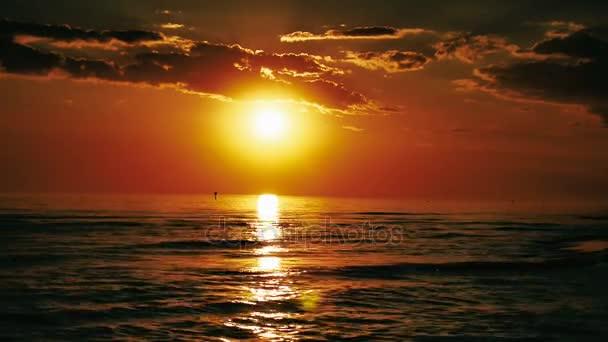 Baltské moře při západu slunce