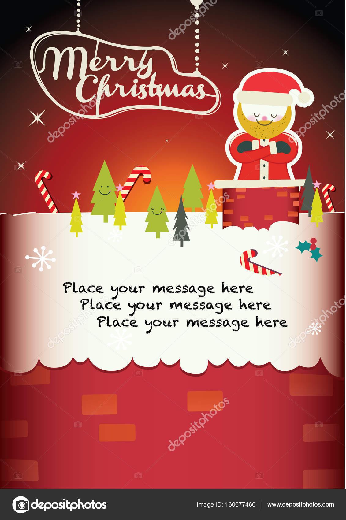 Weihnachtsgrüße Vorlage.Weihnachtsgruß Vorlage Stockvektor Nanano 160677460
