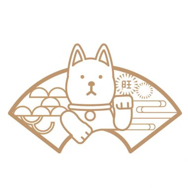 dog for japanese card