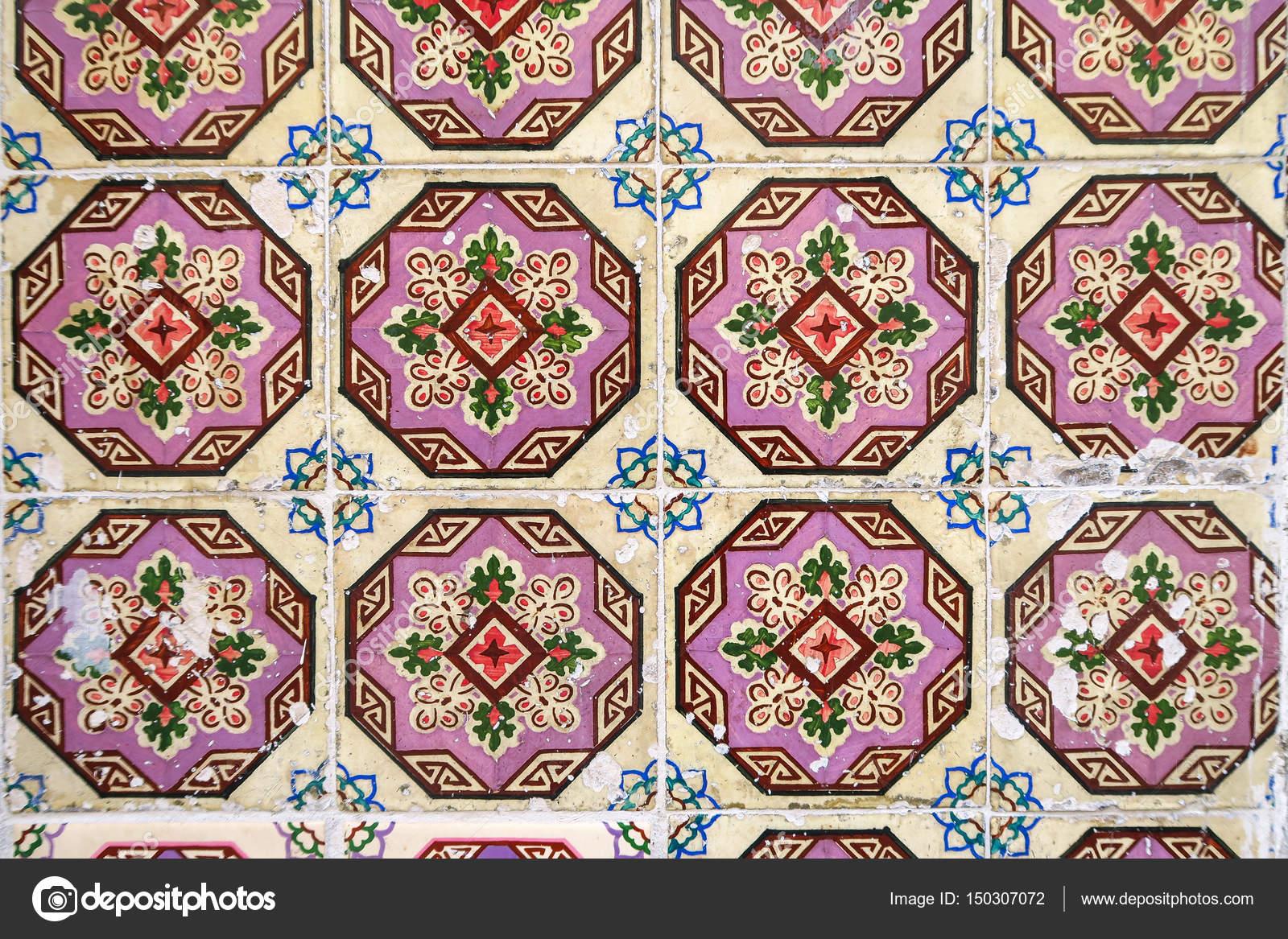 Multicolore coperta messicana con piastrelle di saltillo