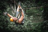 Fotografie Zipline in jungle