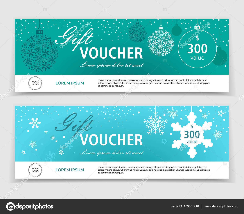 Satz von Weihnachten Geschenk-Gutscheine, Zertifikate oder ...