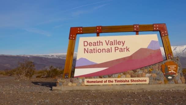 CALIFORNIA, USA - NOVEMBER  29, 2019:   Death Valley National Park, West Entrance to Death Valley National Park on California State