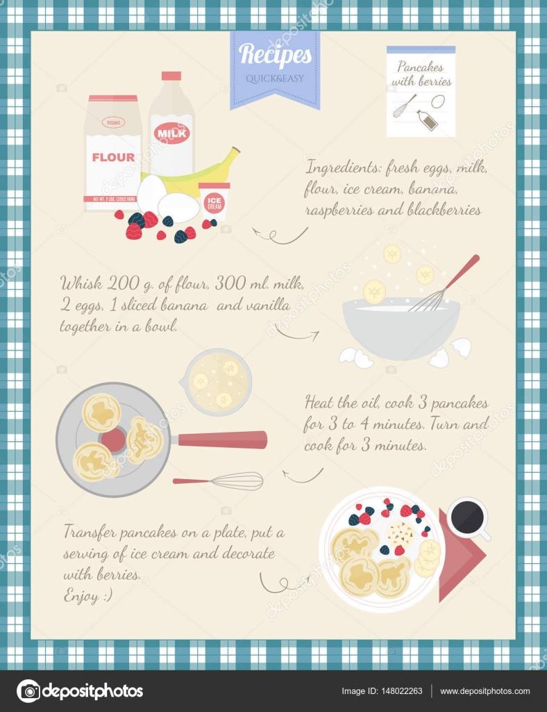 Receta de cocina casera cocinar panqueques instrucciones Cocinar con 5 ingredientes
