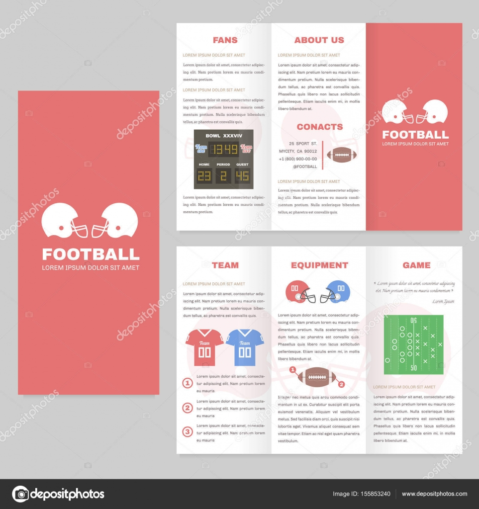 Trifold Sport Brochure Template Good For Advertising And - Information brochure template