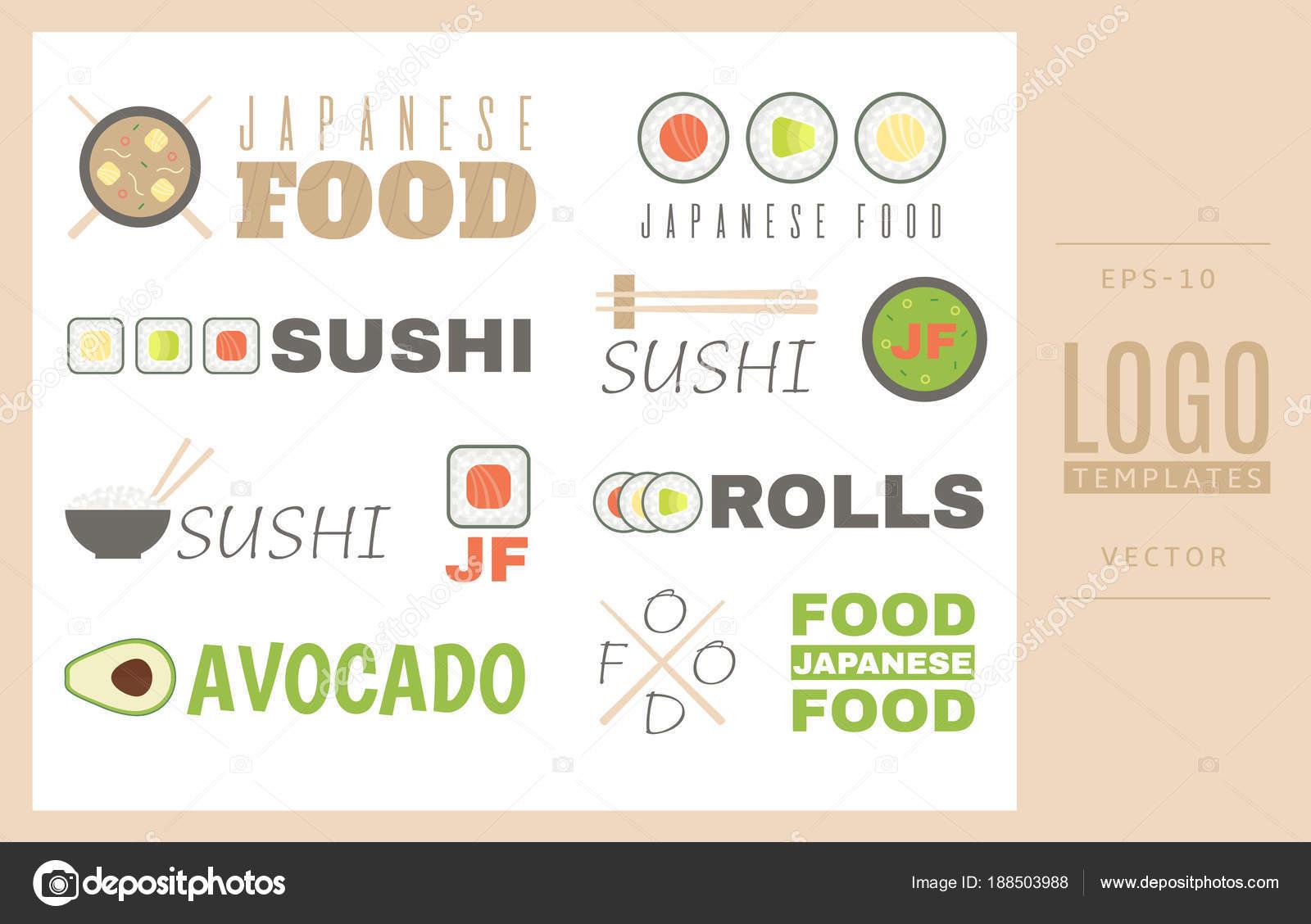 Modles De Logo Dans Le Style Japonais Bon Pour Site Web Cartes Visite