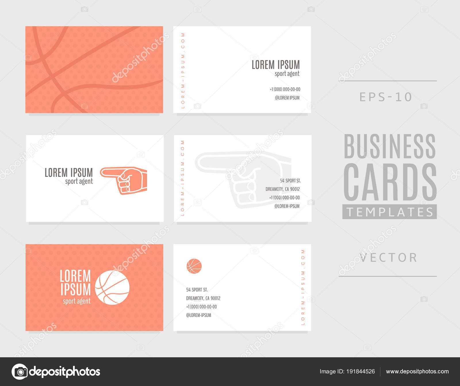 Basketball business cards. A good idea for sports agents, coaches ...