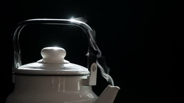 White Steam Flowing from a Teapot