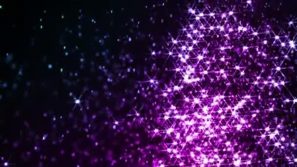 Nanebevstoupení Páně kouzlo Vánoc. Malé šumivé barevné částice pomalu a chaoticky vznášet ve vzduchu vytvářejí atmosféru magie. Zpomalený pohyb rychlostí 240 snímků za sekundu