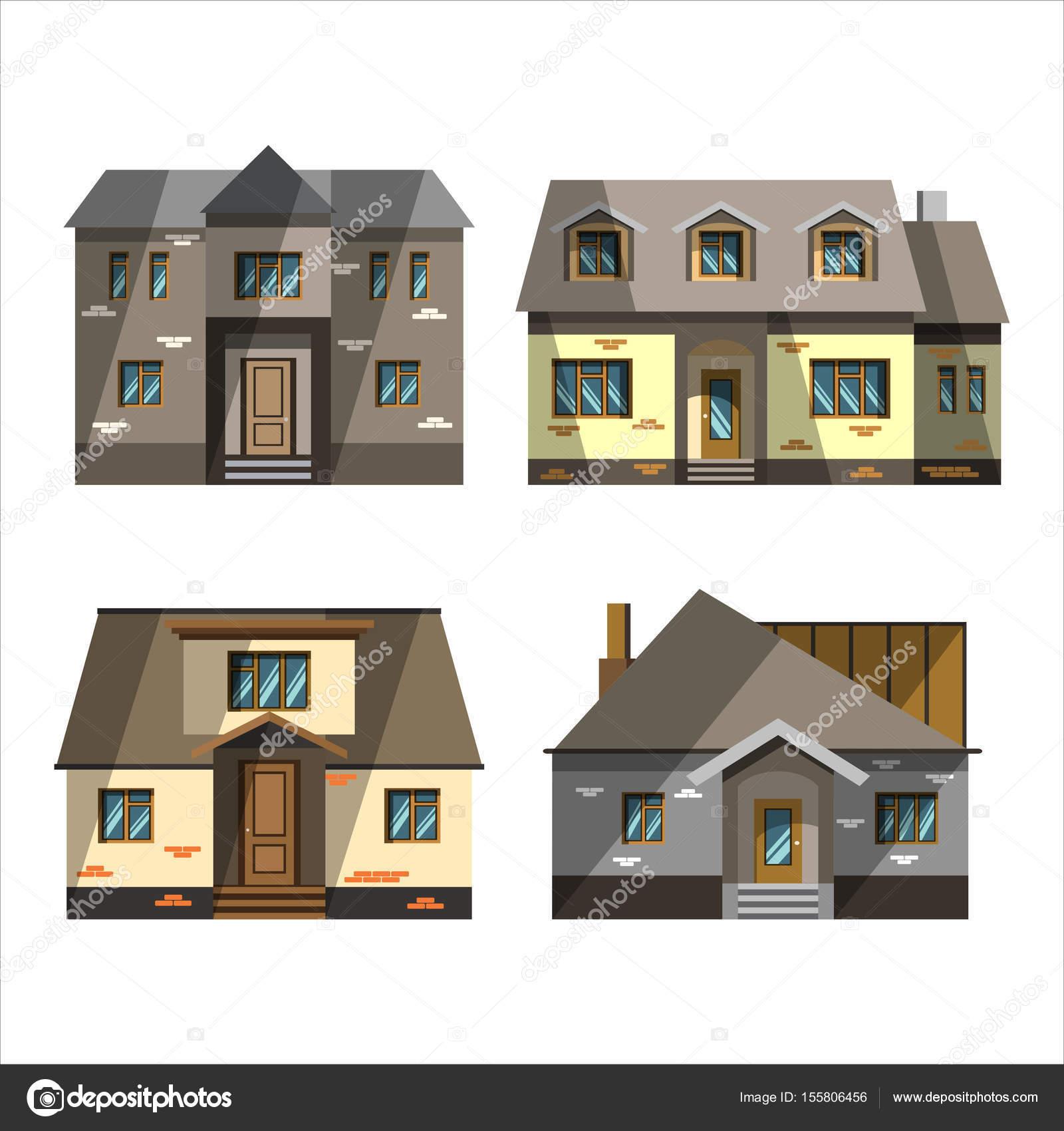 Land Haus flaches design — Stockvektor © grandnat #155806456
