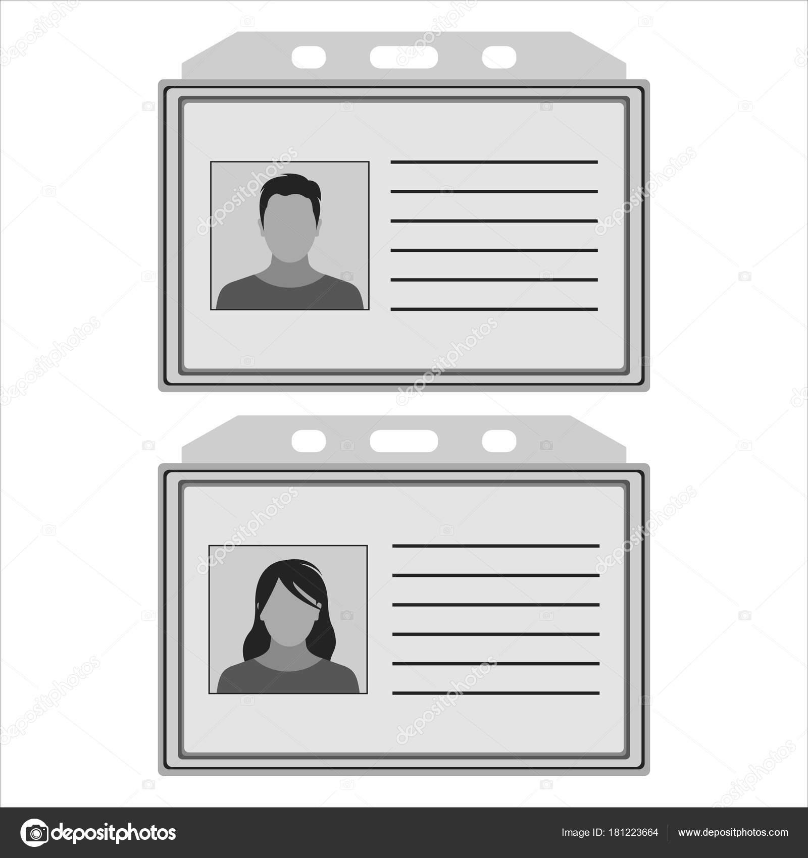 tarjeta de identificación de plantilla — Archivo Imágenes ...