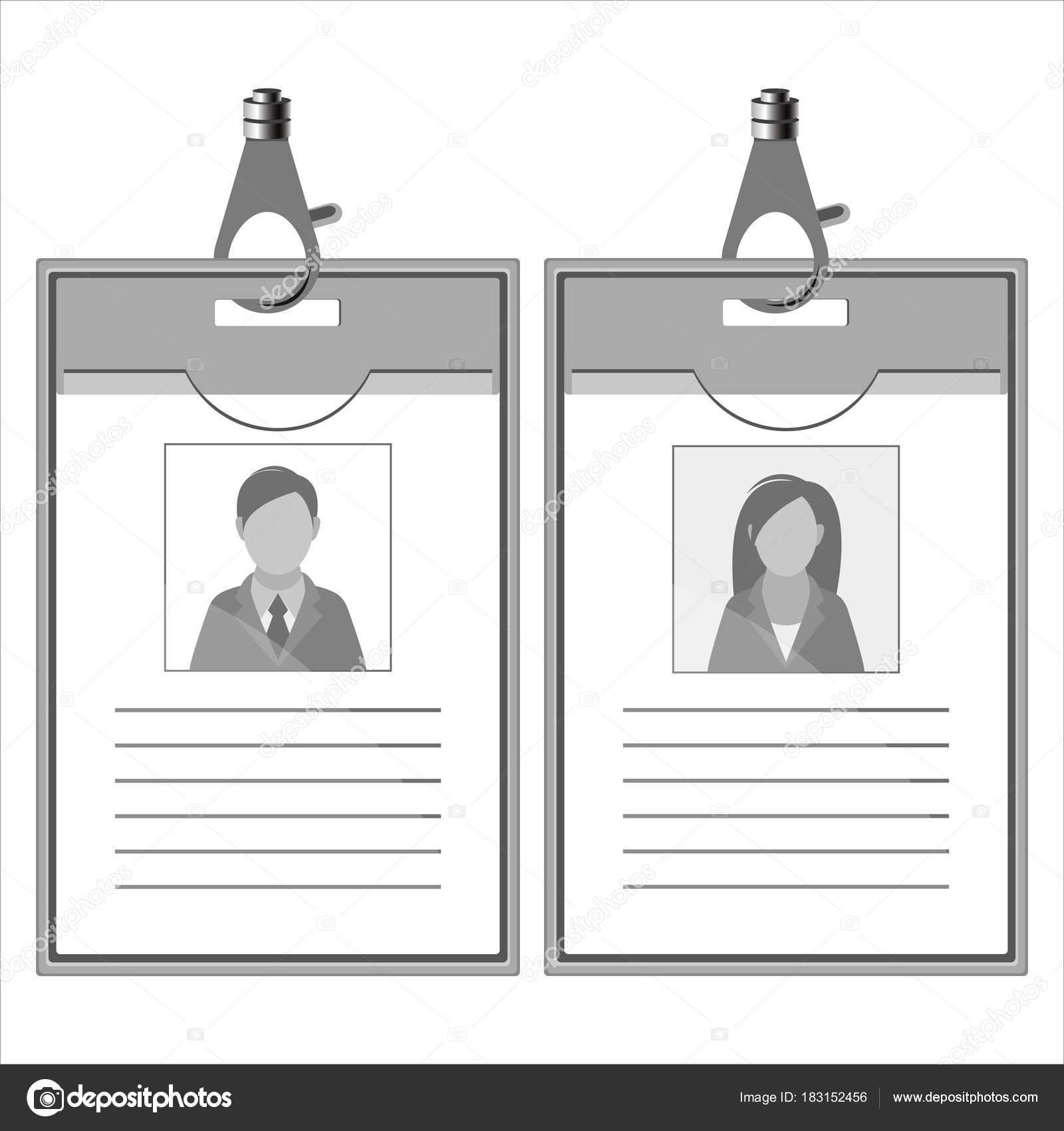 tarjeta de identificación de plantilla — Vector de stock © grandnat ...