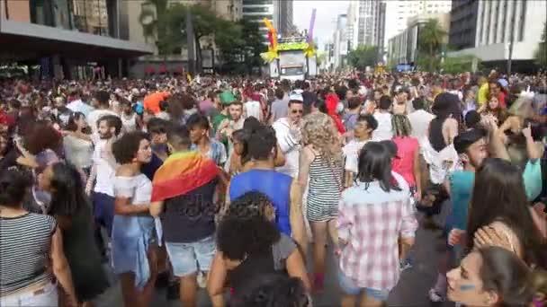 Neznámá skupina lidí v Gay pride parade Sao Paulo 21 st