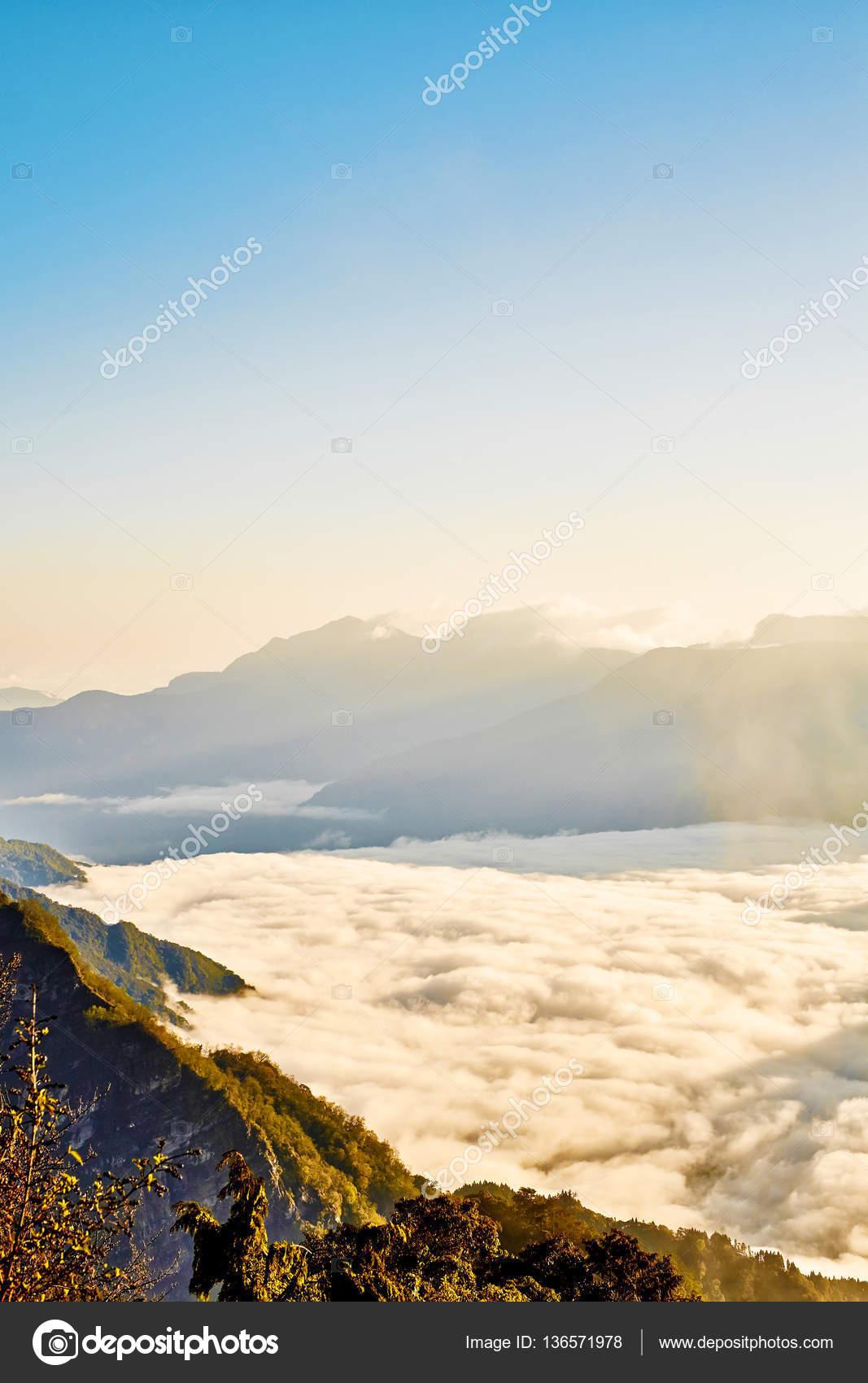 Schönen Guten Morgen Sonnenaufgang Dramatische Wolke Aus