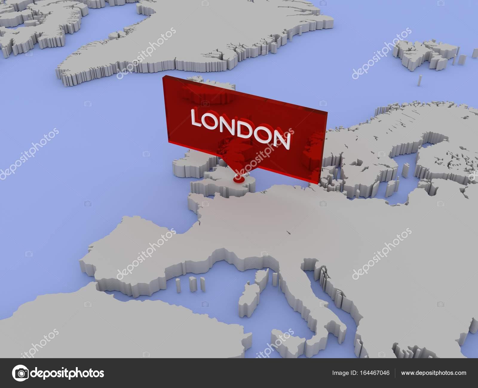 londres mapa mundo 3d ilustración mapa del mundo   Londres, Inglaterra — Foto de  londres mapa mundo