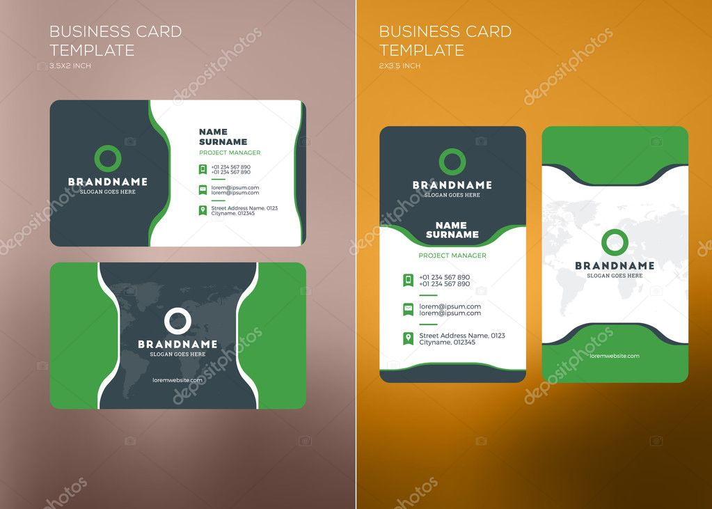 Corporate business card print template vertical and horizontal corporate business card print template personal visiting card with company logo vertical and horizontal business card templates colourmoves