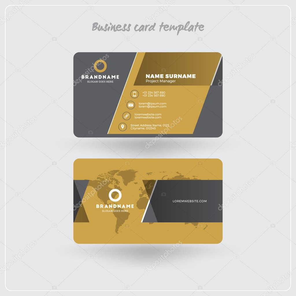 Golden and gray business card print template personal visiting card golden and gray business card print template personal visiting card with company logo clean colourmoves
