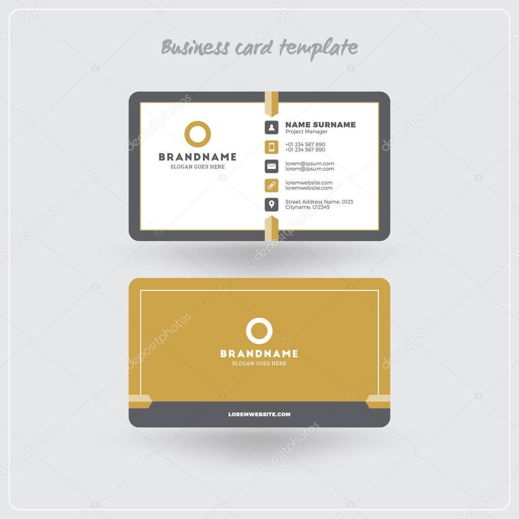 Golden Und Grauen Visitenkarte Drucken Vorlage Persönliche