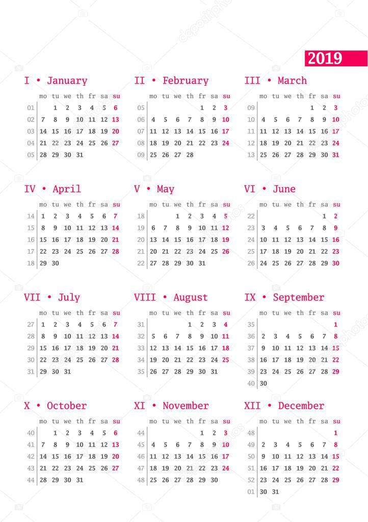 магазин календарь 2019 на заказ этого