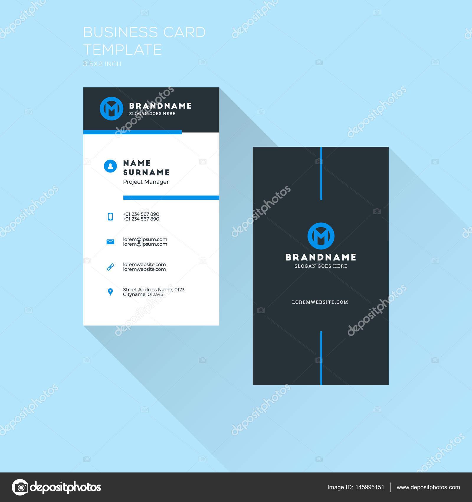 Vertikale Visitenkarten Druckvorlage Persönliche