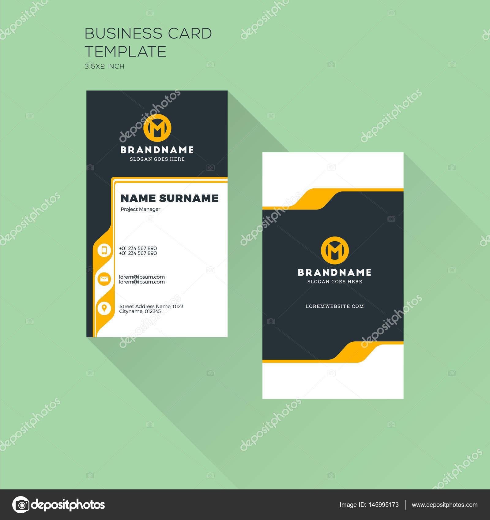 vertical business card template