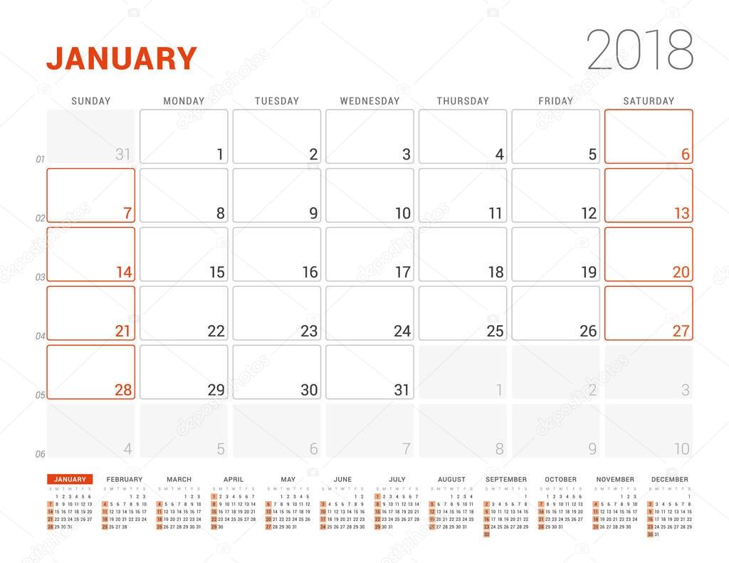 Großartig Jedes Jahr Kalendervorlage Zeitgenössisch - Beispiel ...