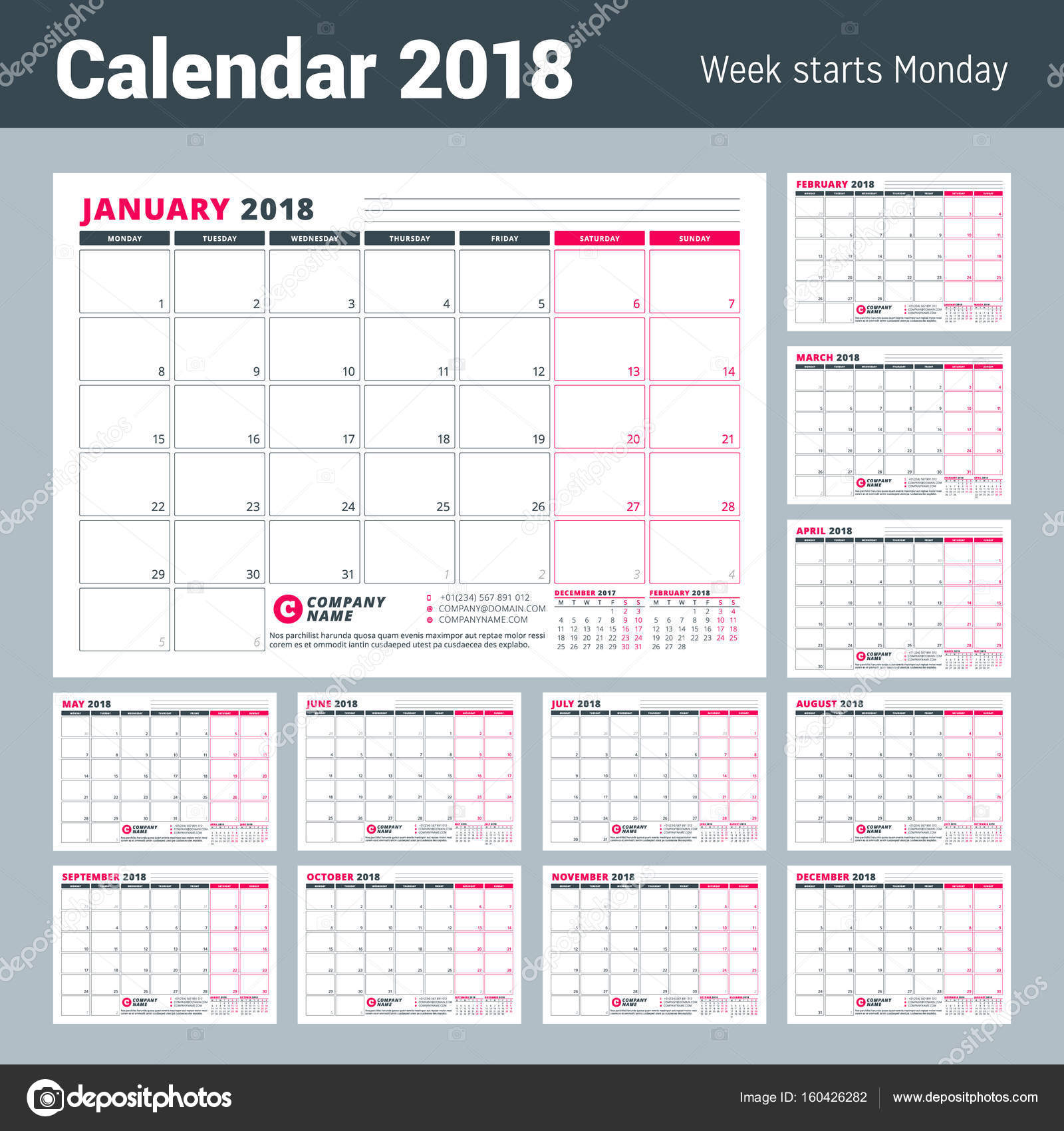 Yearly business planner