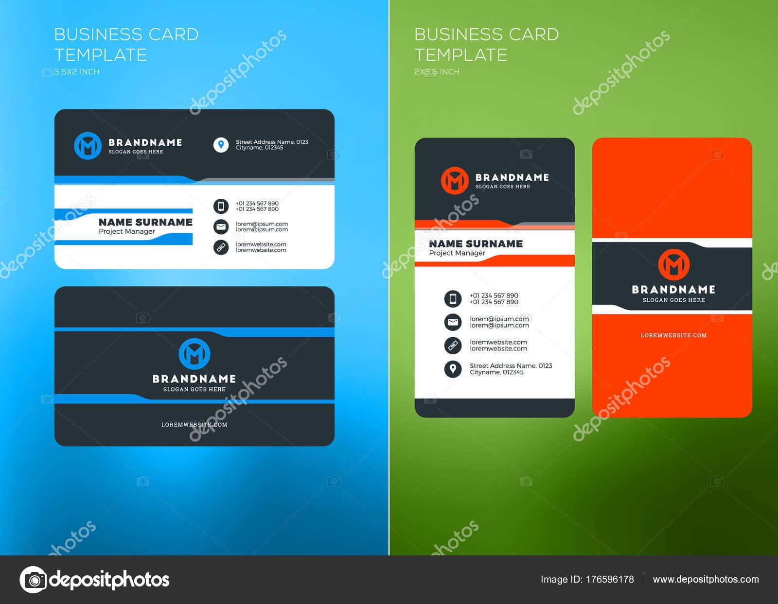 Corporate Business Card Druckvorlage Vertikale Und