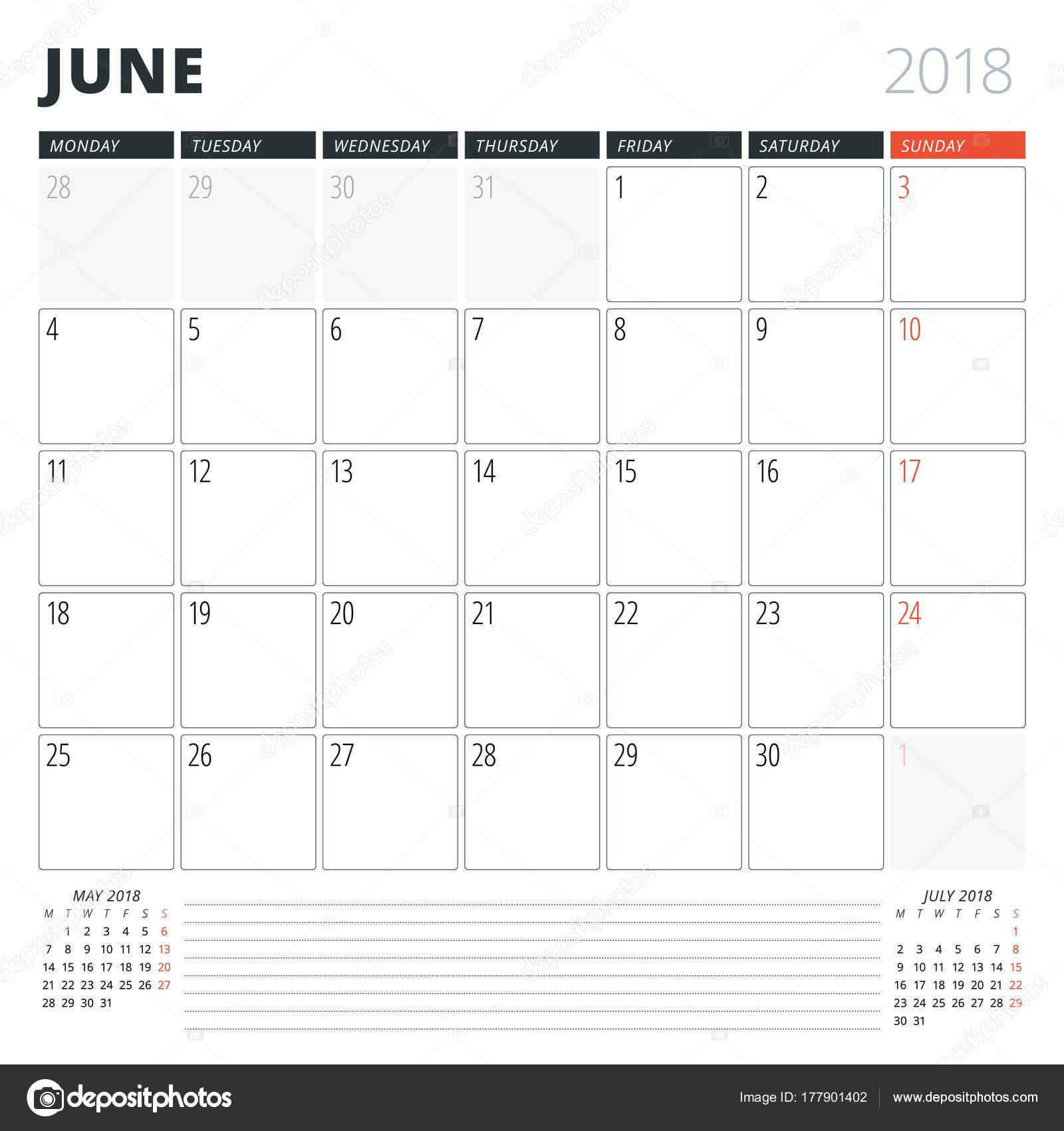2009 június naptár Naptár tervező 2018 június. Tervezősablon. A héten kezdődik hétfőn  2009 június naptár
