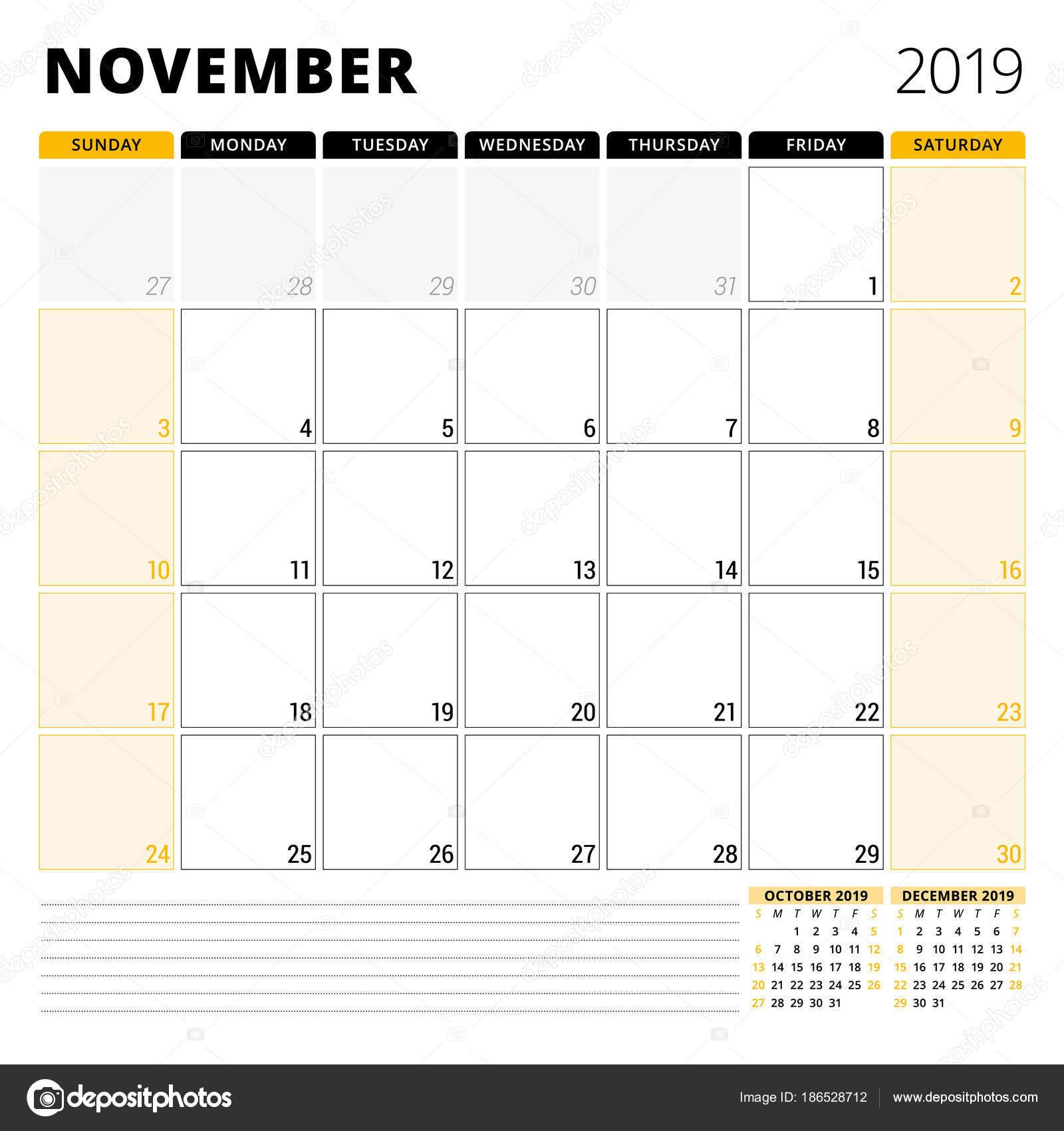 2019 november naptár Naptár tervező November 2019. Levélpapír tervezősablon. Hét  2019 november naptár