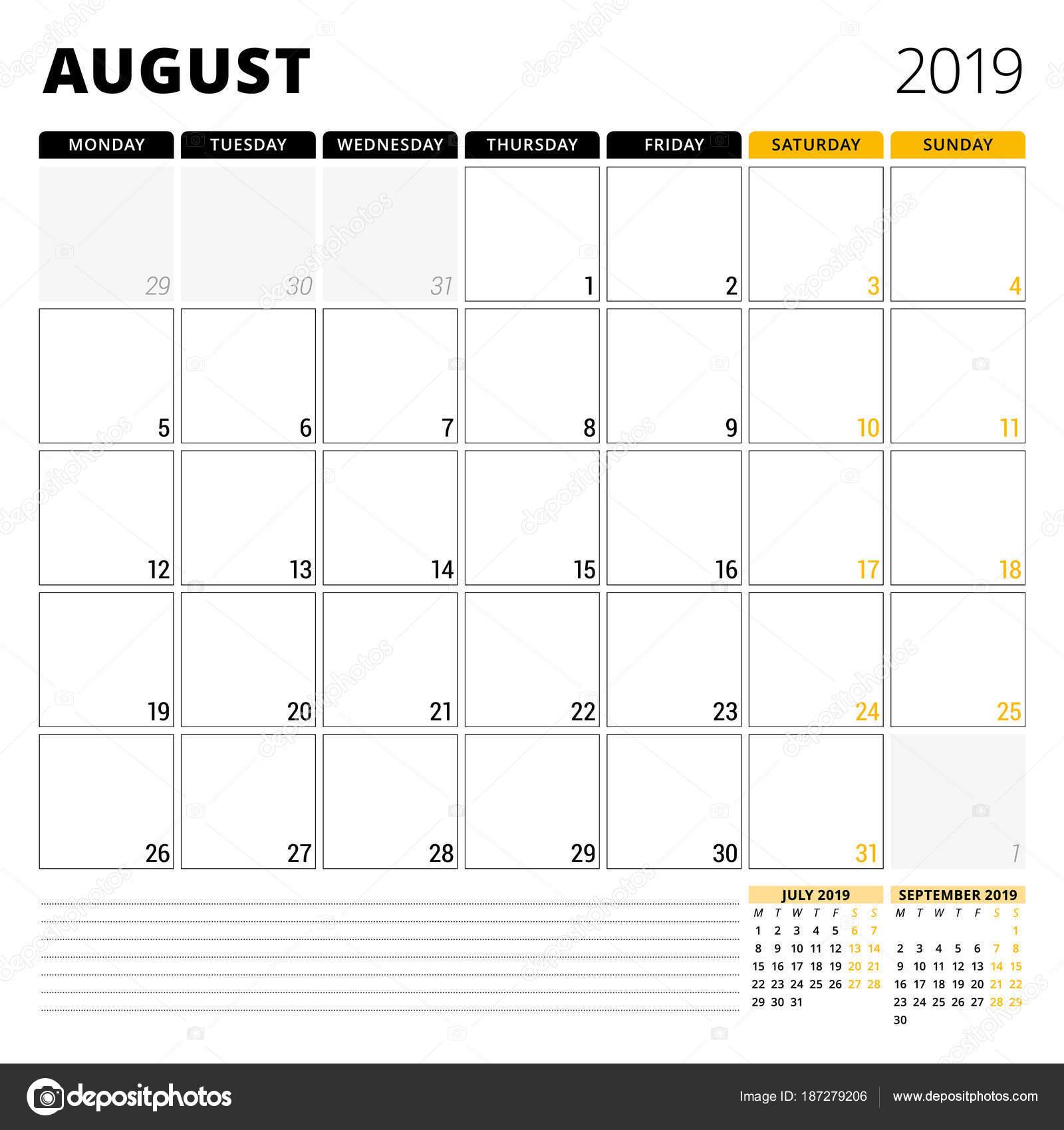 Pagina Calendario Agosto 2019.Immagini Planner Agosto 2019 Calendario Planner Per Agosto