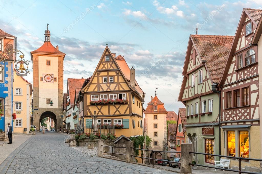 Centro de ciudad hist rico de rothenburg ob der tauber - Rothenburg ob der tauber alemania ...