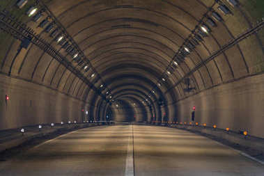 Tunnel Road with two lane